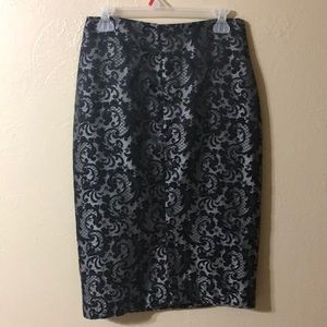 Worthington black/silver pencil skirt